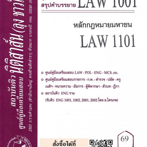 สรุปคำบรรยาย LAW 1001 (LA 101) หลักกฎหมายมหาชน จัดทำโดย นิติสาส์น ลุงชาวใต้