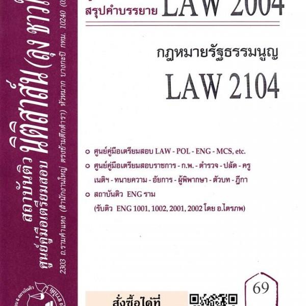 สรุปคำบรรยาย LAW 2004 (LAW 2104) กฎหมายรัฐธรรมนูญ