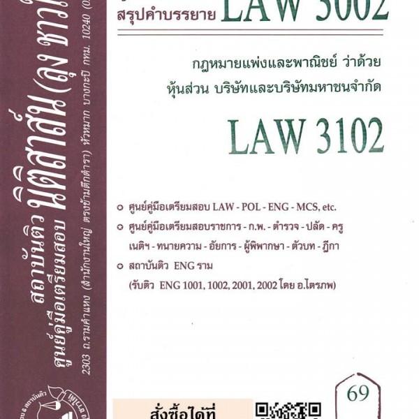 สรุปคำบรรยาย LAW 3002 (LAW 3102) กฎหมายแพ่งและพาณิชย์ว่าด้วยหุ้นส่วน บริษัทและบริษัทมหาชนจำกัด